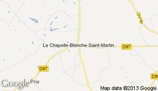 Plan de La Chapelle-Blanche-Saint-Martin