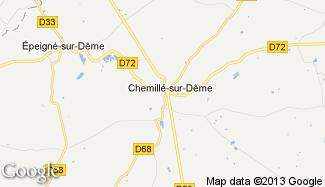 Plan de Chemillé-sur-Dême