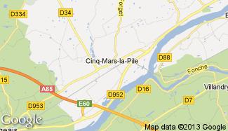 Plan de Cinq-Mars-la-Pile
