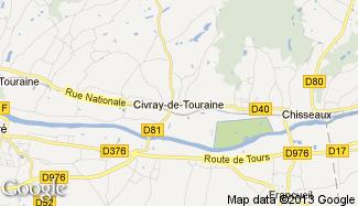 Plan de Civray-de-Touraine