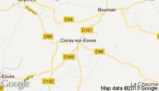 Plan de Civray-sur-Esves