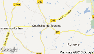 Plan de Courcelles-de-Touraine