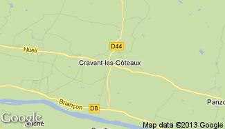 Plan de Cravant-les-Côteaux