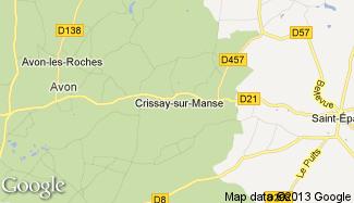 Plan de Crissay-sur-Manse