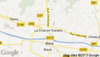 Plan de La Croix-en-Touraine