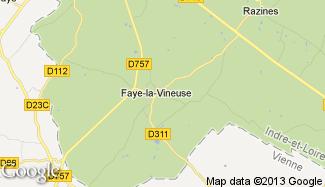 Plan de Faye-la-Vineuse