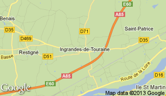 Plan de Ingrandes-de-Touraine