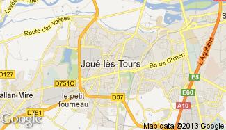 Plan de Joué-lès-Tours