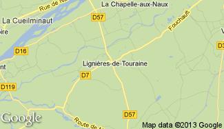 Plan de Lignières-de-Touraine
