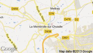 Plan de La Membrolle-sur-Choisille