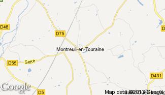 Plan de Montreuil-en-Touraine