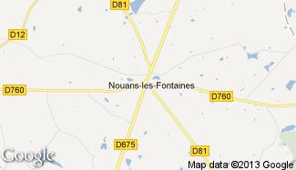 Plan de Nouans-les-Fontaines