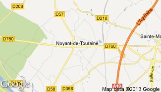 Plan de Noyant-de-Touraine