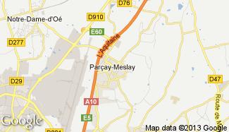 Plan de Parçay-Meslay