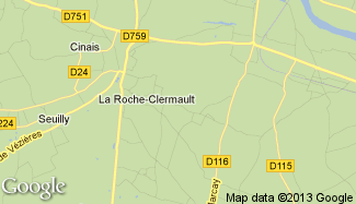 Plan de La Roche-Clermault
