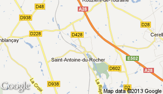 Plan de Saint-Antoine-du-Rocher