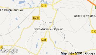 Plan de Saint-Aubin-le-Dépeint