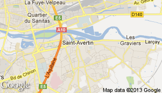 Plan de Saint-Avertin