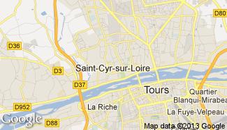 Plan de Saint-Cyr-sur-Loire