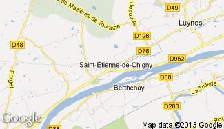 Plan de Saint-Étienne-de-Chigny