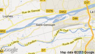Plan de Saint-Genouph
