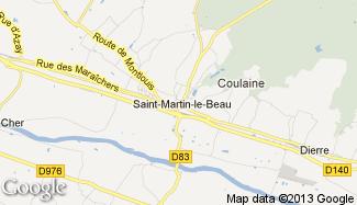 Plan de Saint-Martin-le-Beau