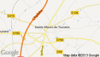 Plan de Sainte-Maure-de-Touraine
