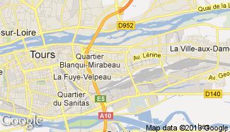 Plan de Saint-Pierre-des-Corps