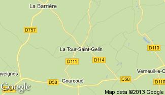 Plan de La Tour-Saint-Gelin
