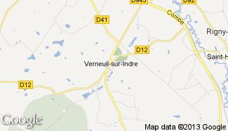 Plan de Verneuil-sur-Indre