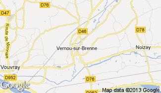 Plan de Vernou-sur-Brenne
