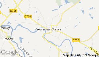 Plan de Yzeures-sur-Creuse
