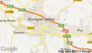 Plan de Bourgoin-Jallieu
