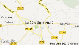 Plan de La Côte-Saint-André