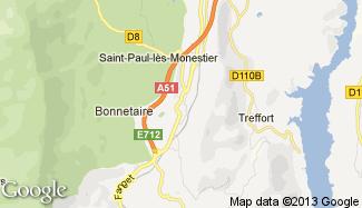 Plan de Monestier-de-Clermont