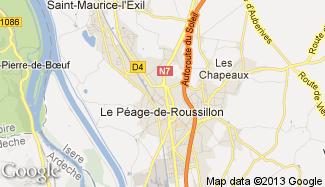 Plan de Le Péage-de-Roussillon