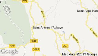 Plan de Saint-Antoine-l'Abbaye