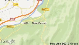 Plan de Saint-Gervais