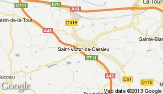 Plan de Saint-Victor-de-Cessieu
