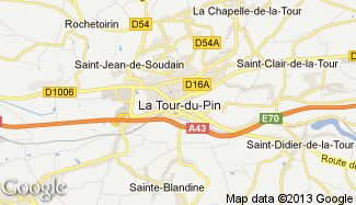 Plan de La Tour-du-Pin