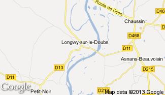 Plan de Longwy-sur-le-Doubs