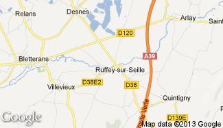 Plan de Ruffey-sur-Seille