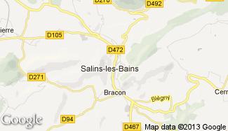 Plan de Salins-les-Bains