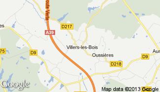 Plan de Villers-les-Bois