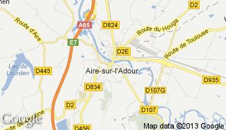 Plan de Aire-sur-l'Adour