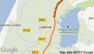 Plan de Labenne