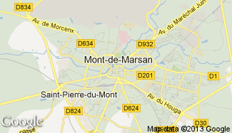 Plan de Mont-de-Marsan