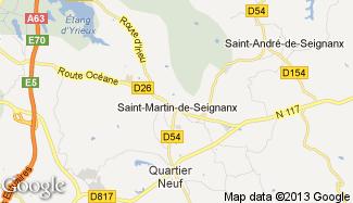 Plan de Saint-Martin-de-Seignanx