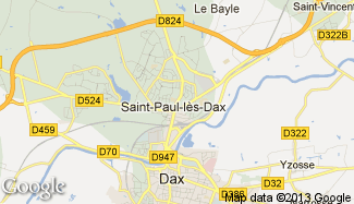 Plan de Saint-Paul-lès-Dax