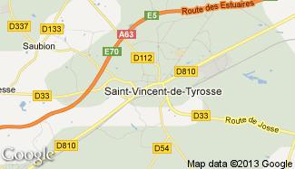 Plan de Saint-Vincent-de-Tyrosse